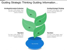 Guiding Strategic Thinking Guiding Information Collection Facilitating Involvement