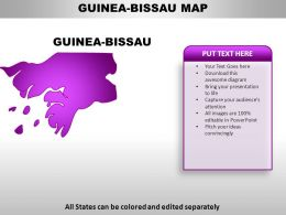 Guinea Bissau Country PowerPoint Maps