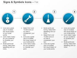 Guitar Screwdriver Bell Wrench Ppt Icons Graphics