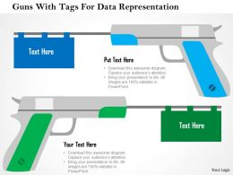 guns_with_tags_for_data_representation_flat_powerpoint_design_Slide01