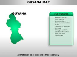 Guyana Country PowerPoint Maps