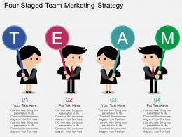 Gv Four Staged Team Marketing Strategy Flat Powerpoint Design