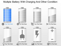 gv Multiple Battery With Charging And Other Condition Powerpoint Template