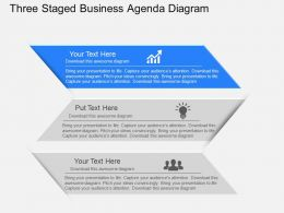 gv Three Staged Business Agenda Diagram Powerpoint Template
