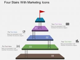 Gw Four Stairs With Marketing Icons Flat Powerpoint Design