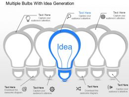 gw Multiple Bulbs With Idea Generation Powerpoint Template