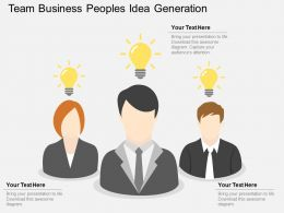 gw Team Business Peoples Idea Generation Flat Powerpoint Design