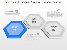 gw Three Staged Business Agenda Hexagon Diagram Powerpoint Template