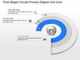 gx Three Staged Circular Process Diagram And Icons Powerpoint Template