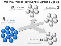 gx Three Way Process Flow Business Marketing Diagram Powerpoint Template