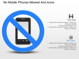 gy No Mobile Phones Allowed And Icons Powerpoint Template
