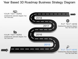 gy Year Based 3d Roadmap Business Strategy Diagram Powerpoint Template