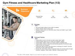 Gym Fitness ABC Healthcare Marketing Plan Business How Enter Health Fitness Club Market Ppt Samples
