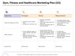 Gym Fitness ABC Healthcare Marketing Plan Strategies S1 How Enter Health Fitness Club Market Ppt Skills