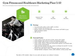 Gym Fitness And Healthcare Marketing Plan 1 2 Health Club Industry Ppt Powerpoint Presentation Pictures Slides