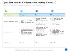 Gym Fitness And Healthcare Marketing Plan 2 2 Ppt Powerpoint Presentation Portfolio Gallery