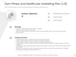 Gym Fitness And Healthcare Marketing Plan Business Market Entry Strategy Clubs Industry Ppt Summary