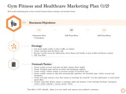Gym Fitness And Healthcare Marketing Plan Business Wellness Industry Overview Ppt Styles