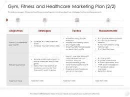Gym Fitness And Healthcare Marketing Plan Strategies Market Entry Strategy Clubs Industry Ppt Rules