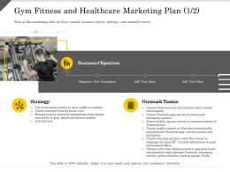 Gym Fitness And Healthcare Marketing Plan Strategy Ppt Powerpoint Presentation Professional Designs Download