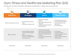 Gym Fitness And Healthcare Marketing Plan Tactics Health And Fitness Clubs Industry Ppt Information