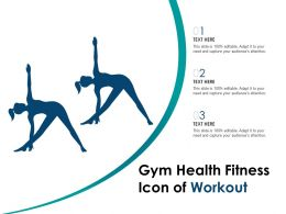 Gym Health Fitness Icon Of Workout