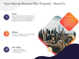 Gym Startup Business Plan Proposal About Us Assist Ppt Powerpoint Presentation Clipart