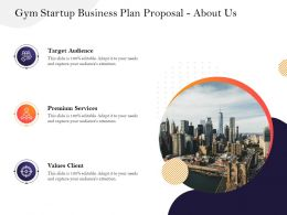 Gym Startup Business Plan Proposal About Us M2939 Ppt Powerpoint Presentation Ideas Rules