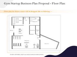 Gym Startup Business Plan Proposal Floor Plan Ppt Powerpoint Presentation Show Background