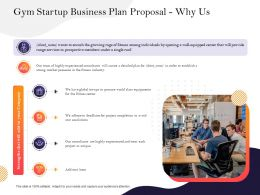 Gym Startup Business Plan Proposal Why Us Ppt Powerpoint Presentation Background