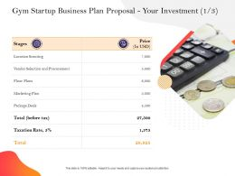 Gym Startup Business Plan Proposal Your Investment Deals Ppt Powerpoint Presentation Styles