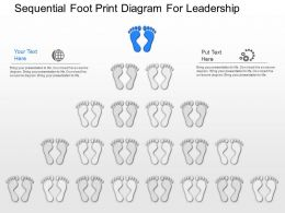 gz Sequential Foot Print Diagram For Leadership Powerpoint Template