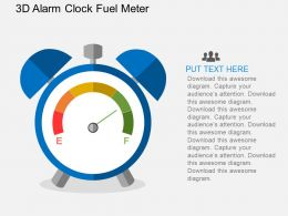 Ha 3d Alarm Clock Fuel Meter Flat Powerpoint Design