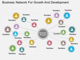 Ha Business Network For Growth And Development Flat Powerpoint Design