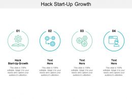 Hack Start Up Growth Ppt Powerpoint Presentation Icon Clipart Cpb