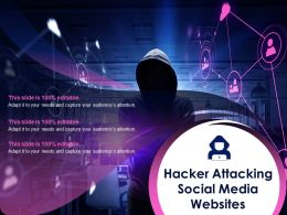 Hacker Attacking Social Media Websites