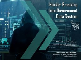 Hacker Breaking Into Government Data System