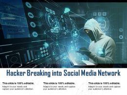 Hacker Breaking Into Social Media Network