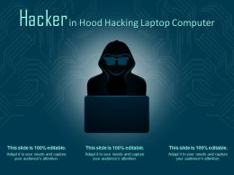 Hacker In Hood Hacking Laptop Computer