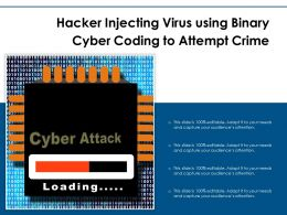 Hacker Injecting Virus Using Binary Cyber Coding To Attempt Crime