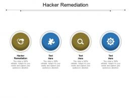 Hacker Remediation Ppt Powerpoint Presentation Summary Clipart Cpb
