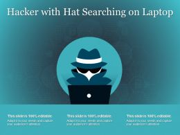 Hacker With Hat Searching On Laptop