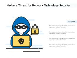 Hackers Threat For Network Technology Security