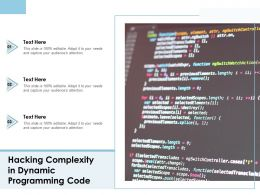 Hacking Complexity In Dynamic Programming Code