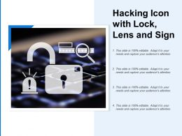 Hacking Icon With Lock Lens And Sign