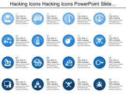 Hacking Icons Hacking Icons Powerpoint Slide Presentation Sample