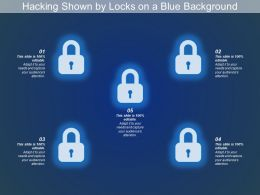 Hacking Shown By Locks On A Blue Background
