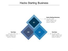 Hacks Starting Business Ppt Powerpoint Presentation Gallery File Formats Cpb