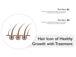 Hair Icon Of Healthy Growth With Treatment