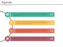 68161825 Style Essentials 1 Agenda 4 Piece Powerpoint Presentation Diagram Infographic Slide